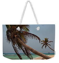Pigeon Cays Palm Trees Weekender Tote Bag