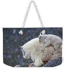 Piggyback Ride Weekender Tote Bag