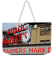 Pike Place Farmers Market Sign Weekender Tote Bag