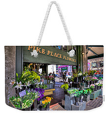 Pike Place Flowers Weekender Tote Bag by Spencer McDonald