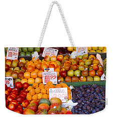 Pike Place Market Seattle Wa Usa Weekender Tote Bag by Panoramic Images