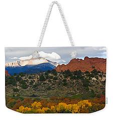 Pikes Peak Fall Pano Weekender Tote Bag