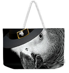 Pilgrim Parrot Weekender Tote Bag by Mim White