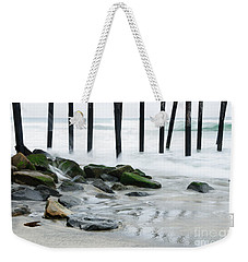 Pilings At Oceanside Weekender Tote Bag