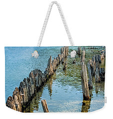 Pilings On Lake Michigan Weekender Tote Bag