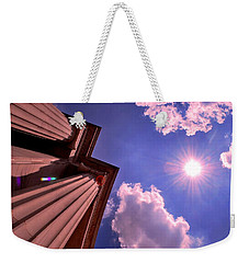 Weekender Tote Bag featuring the photograph Pillars In The Sun by Matt Harang