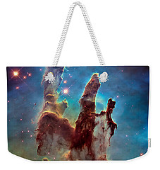 Pillars Of Creation In High Definition - Eagle Nebula Weekender Tote Bag by Jennifer Rondinelli Reilly - Fine Art Photography