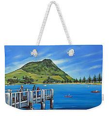 Pilot Bay Mt Maunganui 201214 Weekender Tote Bag by Selena Boron