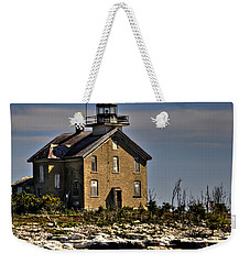 Weekender Tote Bag featuring the photograph Pilot Island Lighthouse by Deborah Klubertanz