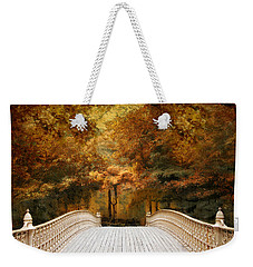 Weekender Tote Bag featuring the photograph Pine Bank Autumn by Jessica Jenney
