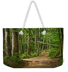 Pinewood Path Weekender Tote Bag