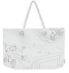 Ping Pong Cartoon Weekender Tote Bag
