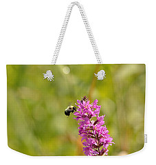 Pink And Gold Weekender Tote Bag by David Porteus