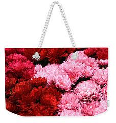Pink And Red Weekender Tote Bag by Menachem Ganon