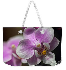 Pink And White Orchid Weekender Tote Bag