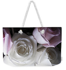 Pink And White Roses Weekender Tote Bag