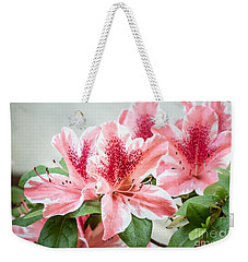 Weekender Tote Bag featuring the photograph Pink Azaleas by Todd Blanchard