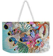 Pink Beach Sea Squirts Weekender Tote Bag by Patricia Beebe