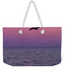 Pink Beach Sunset Weekender Tote Bag
