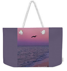 Pink Beach Sunset Weekender Tote Bag