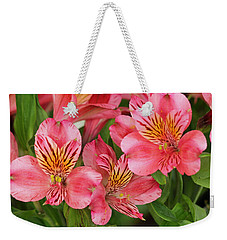 Pink Beauty Weekender Tote Bag by E Faithe Lester