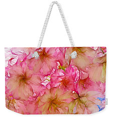 Weekender Tote Bag featuring the digital art Pink Blossom by Lilia D