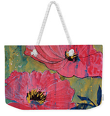 Pink Blossoms Weekender Tote Bag by Robin Maria Pedrero