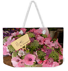 Pink Bouquet Weekender Tote Bag by Carla Parris