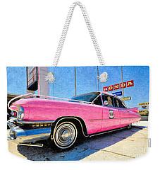 Pink Cadillac Weekender Tote Bag