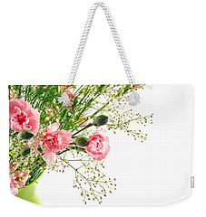 Pink Carnation Flowers Weekender Tote Bag by Vizual Studio