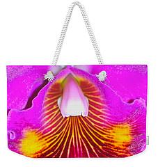 Pink Cattelaya Orchid Weekender Tote Bag