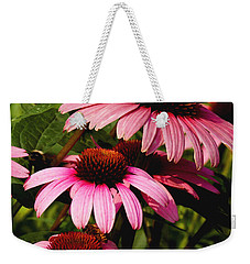 Pink Coneflowers Weekender Tote Bag by James C Thomas
