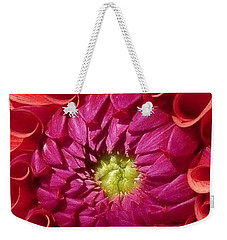 Weekender Tote Bag featuring the photograph Pink Dahlia Variation by Susan Garren
