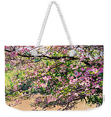 Pink Dogwood I Weekender Tote Bag by Anita Lewis