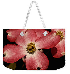 Weekender Tote Bag featuring the photograph Pink Dogwood by James C Thomas