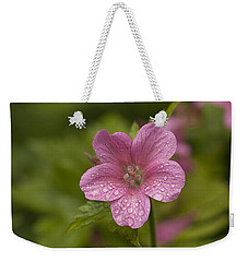Pink Droplets Weekender Tote Bag