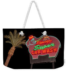 Pink Elephant Car Wash 36 X 24 Weekender Tote Bag