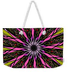Weekender Tote Bag featuring the digital art Pink Explosion by Elizabeth McTaggart