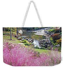 Pink Fall Weekender Tote Bag