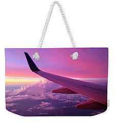 Pink Flight Weekender Tote Bag