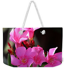 Weekender Tote Bag featuring the photograph Pink Flower  by Ramabhadran Thirupattur