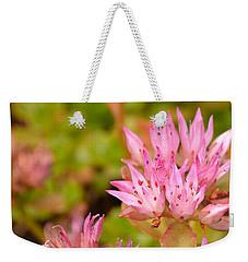 Pink Flower Weekender Tote Bag by Tine Nordbred