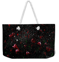 Pink Flowers In Twilight Weekender Tote Bag by Becky Lupe