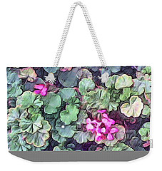 Pink Flowers Painting Weekender Tote Bag