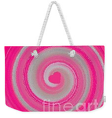 Weekender Tote Bag featuring the digital art Pink Fluff by Catherine Lott
