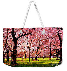 Pink Forest Weekender Tote Bag by Patti Whitten