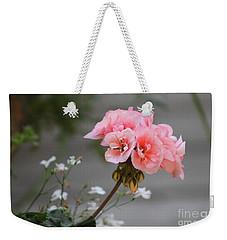 Pink Geranium Weekender Tote Bag by Leone Lund