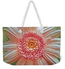 Pink Gerbera Textured Weekender Tote Bag