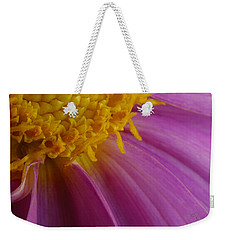 Weekender Tote Bag featuring the photograph Pink Gown by Arthur Fix