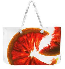 Pink Grapefruit, Backlit Weekender Tote Bag